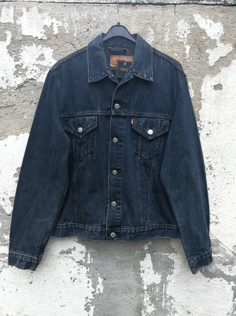 fb71dc97c9b35 Vintage Levi s Levis Denim Jacket Jeansjacket dark blue