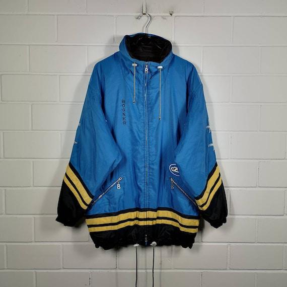 Bogner Jacket Vintage Size Jaspo M Bogner Winter Jacket 90s Bogner Native Blue Ski Wear Winter Jacket Size LXL