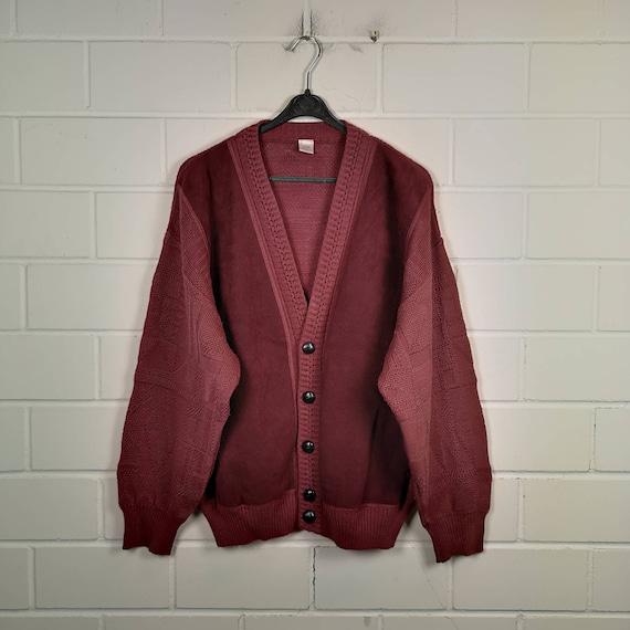 Vintage Size L crazy pattern Cardigan Jacket Cardi
