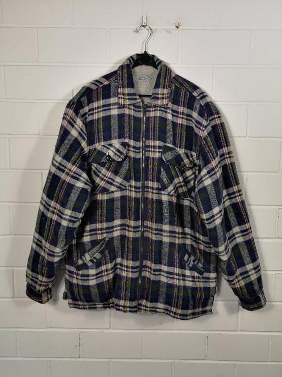 Vintage Size XXXL Fleece Jacket Jacket Checkered C