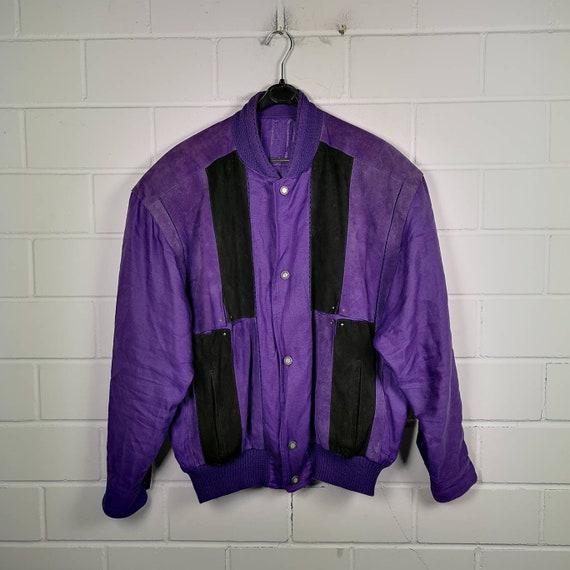 Vintage Size L Suede Leather/Silk/Linen Jacket Bom