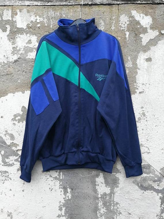 Vintage Reebok Track Top Sportjacket Jacke Trainingsjacke Sportjacke 80s 90s Size L