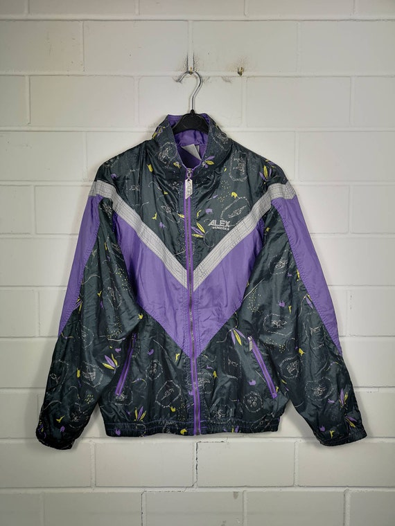 Vintage Size S-M Women/'s Shell Jacket shelljacket shell jacket jacket Crazy Pattern 80s 90s