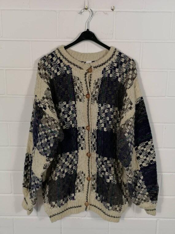 Vintage Women Equador Wool Cardigan Jacket Wolljac