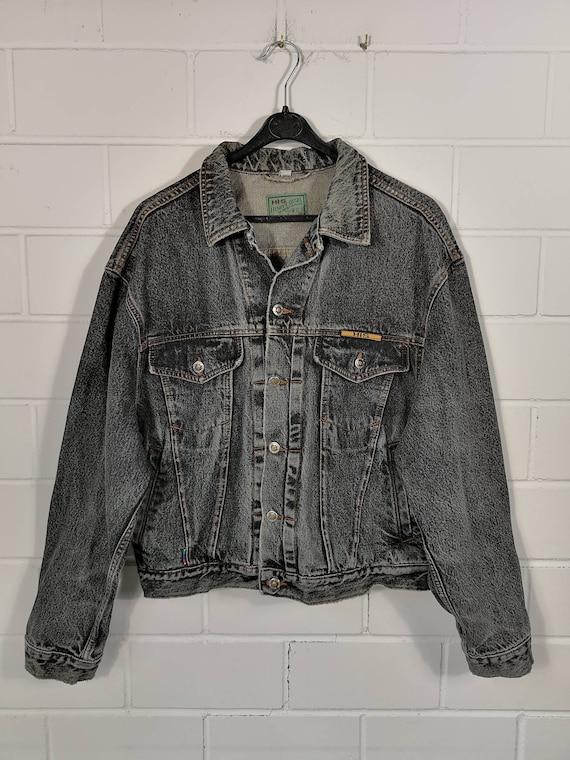 Vintage HIS Denim Jacket denim jacket black Denim