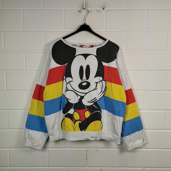 Vintage Mickey Mouse Size M Reversible Sweatshirt