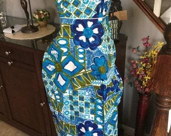 9b73d629bdec Fashions of Hawaii 1960;s Hawaain Glamour Girl Maxi Dress/Hawaiian Moo Moo/Vintage  dress/Hawaii Clothing