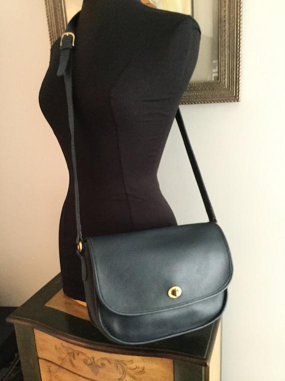 Vintage Coach Navy City Crossbody Handbag 9790 USA