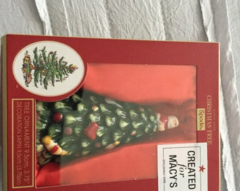 Spode Christmas Tree Ornament created for Macy's Limited Edition/christmas decor/christmas tree