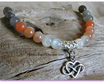 Infinity heart bracelets; infinity symbol heart jewelry; infinite love pet jewelry; heart dog and heart cat bracelets; love my pet bracelet
