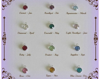 Add-on Swarovski birthstone crystal charm to add to your jewelry design
