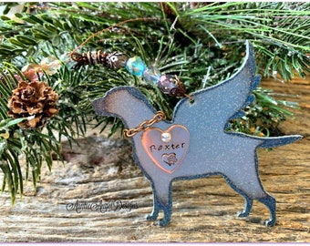 Rainbow Bridge gun dog memorial, Rainbow Bridge labrador retriever angel, angel bird dog sympathy, English pointer angel, gun dog ornament