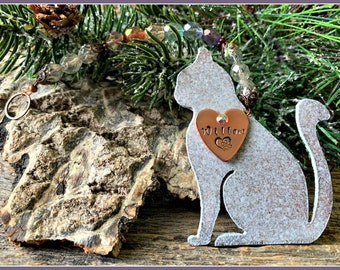 Cat Ornament, Cat Memorial, Cat Sympathy Gift, Cat Remembrance, Rainbow Bridge Cat Sympathy Gift, Loss of Cat, Death of Cat, Cat Mom Gift