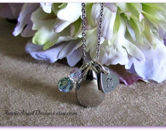Custom Teardrop Cremation Urn Necklace, No Tears in Heaven Ash Jewelry, Loss of Family Member Cremation Urn Necklace, Teardrop Ashes Holder