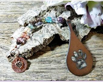 Stamped Rainbow Bridge Teardrop Memorial Ornament, Rainbow Bridge Pet Sympathy, Custom Raindrop Pet Tribute Gift, Rainbow Bridge Ornament