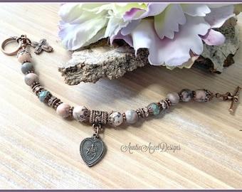 Milagros bracelet, Christian faith jewelry, belief jewelry, sacred heart bracelet, love healing and gratitude jewelry, miracles bracelet