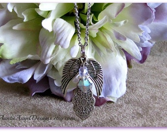 Angel Mother Necklace, Loss of Mother, Angel Mum Sympathy, Mother Sympathy Gift, Mom Gift Idea, In Remembrance of Mom, Mother Loss Comfort