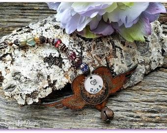 Stamped Pet Angel Wings Ornament, Custom Angel Pet Ornament, Angel Wings Pet Loss Ornament, Custom Pet Angel Wings Ornie, Pet Sympathy Gift