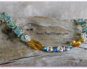 I Am Bracelet, Jesus Fish Jewelry, I Am The Great I Am, Self-Love Jewelry, Law of Attraction Jewelry, Self-empowerment Jewelry