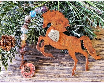 Rainbow Bridge Horse Ornament, Personalized Horse Sympathy, Custom Horse Memorial, Loss of Horse, Death of Horse, Horse Tribute Condolence