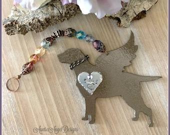 Rainbow Bridge hunting dog memorial, Rainbow Bridge labrador retriever angel, angel bird dog remembrance, duck hunter's dog ornament