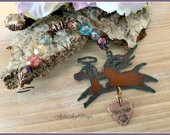 Rainbow Bridge dog angel ornament, dog sympathy personalized, custom Rainbow Bridge angel dog, dog memorial gift, Rainbow Bridge Christmas