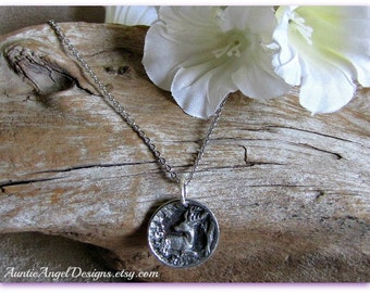 Psalm 18:32; God Arms Me With Strength; Empowerment Jewelry; Deer Totem Necklace; the Grace of Strength; Spiritual Warrior; Deer Bible Verse