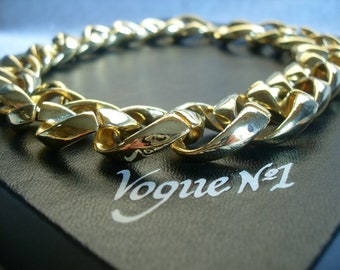vogue no1 chain. chunky. 1990, 1980, gold plated. vintage