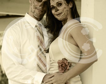 Wedding photo manipulation -  Día de los Muertos - Day of the Dead