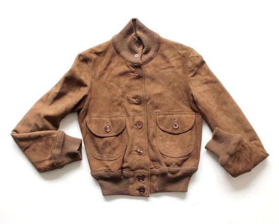 Vintage 70's suede jacket - Size 7 years