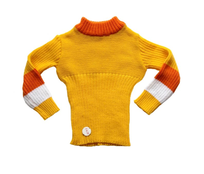 8c45e9347 FRENCH VINTAGE 70 s   kids   jumper   sweater   yellow and orange   new old  stock   size 2 3 years