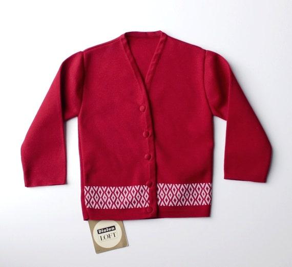 foto de VINTAGE 60's / kids / waistcoat / cardigan / burgundy and | Etsy