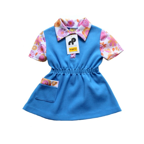8e96faa591 FRENCH VINTAGE 70 s   toddler dress   floral polyester