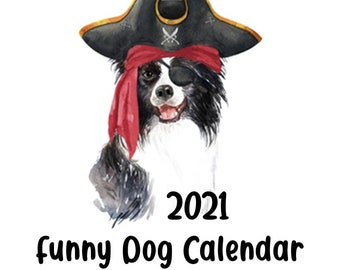 2021 Funny Dog Calendar PRINTABLE