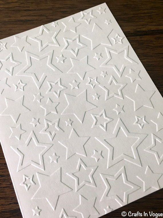 Military Card White Embossed Star Note Cards 4th of July Cards Set of 5 Greeting Cards Soldier Gift Independence Day Cards Star Cards