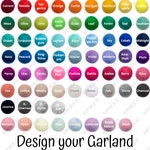 Design Your Own Garland 2cm Size Balls- You Choose the Colours, Custom Party Decor, Kids Room Bunting, Nursery Pom Pom Garland, Christmas