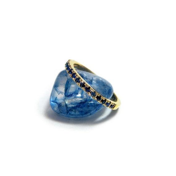 Saphir Hochzeit Ring Gold Saphir Ring Blauer Saphir Ring Etsy