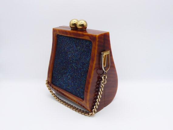 1940s Bakelite Beaded Handbag