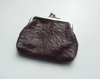 Vintage Brown Faux Leather Coin Purse