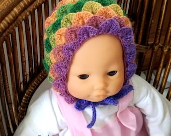 rainbow baby  hat crochet pattern