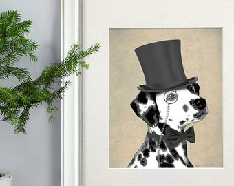 fa7e49bd1de Dalmatian gift Classy dog monocle Dalmatian mom Dalmatian owner gift for dog  lover funny dog dalmatian print dalmatian art uk shop uk seller