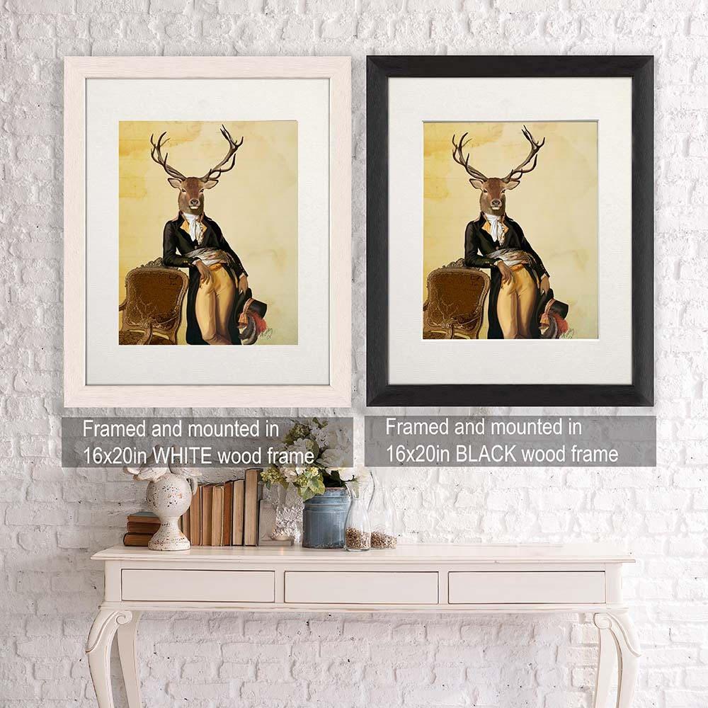 Deer print stag print deer Poster stag poster deer art print gift for mens gift deer art stag art woodland deer canvas Deer & Chair