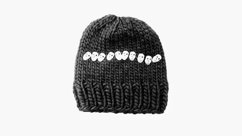 3e2891ab61fdc Hand Knitted Adult Super Chunky Beanie Hat 100% Peruvian Wool.
