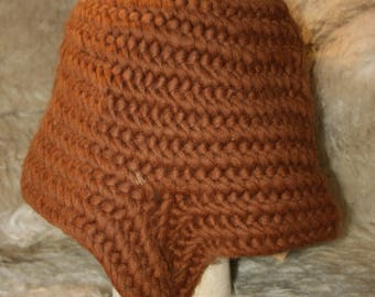 Needlebound viking hat with ear cover