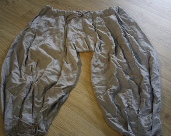 Rus viking trousers, linen, grey