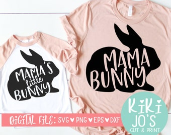 8142c47417 Mommy and Me SVG, Mama Bunny SVG, Easter SVG, Mama's Little Bunny Design,  Toddler svg, baby easter clip art, cute kids design, mom svg, mom
