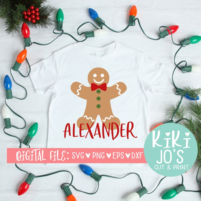 Christmas Cut File Gingerbread Man Svg Christmas Cookie Design Silhouette File Boy Gingerbread Christmas Svg Boy