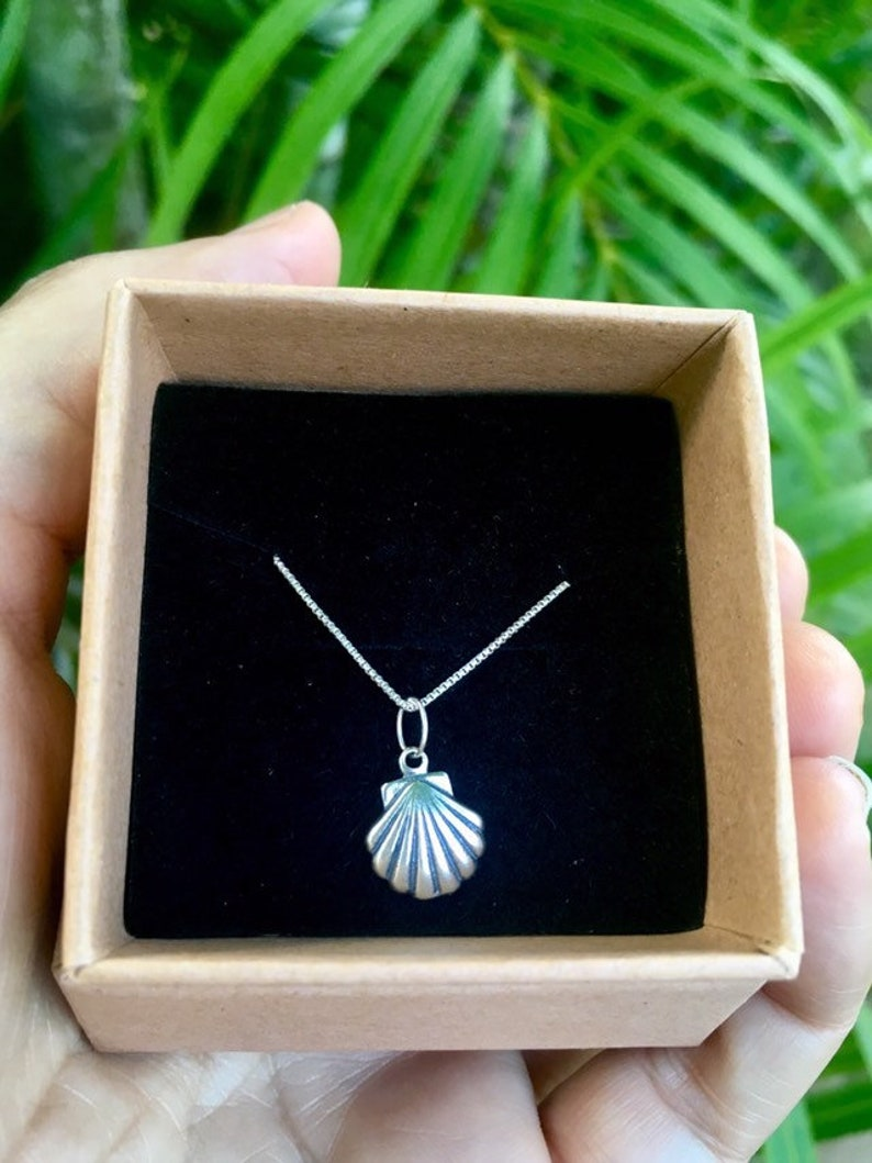 bridesmaids gift beach wedding 925 sterling silver Hawaii sterling silver necklace shell necklace gift for her beachy gift for woman