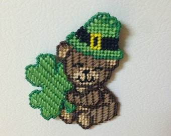 St. Patrick's Day Magnet Plastic Canvas Needlepoint