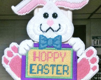Hoppy Easter Bunny Wall Hanging Easter Decoration Happy Easter Bunny Wall Hanging Easter Decoration Needlepoint